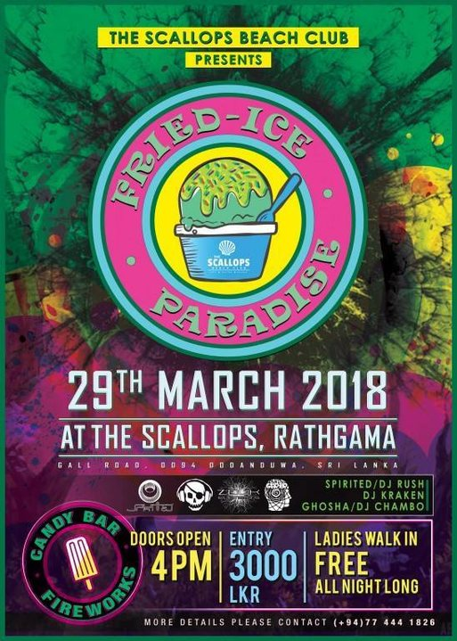 Party Flyer Fried - Ice Paradise 29 Mar '18, 19:00