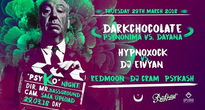 Party Flyer Un Jueves PSYKO en Barcelona City! 29 Mar '18, 23:55