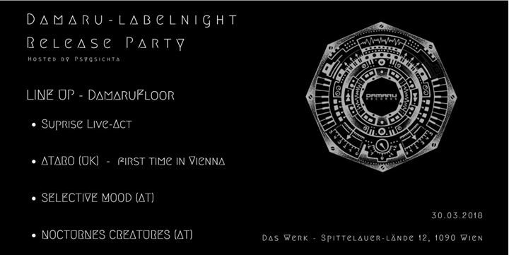Party Flyer Damaru Records Labelnight // Release Party 30 Mar '18, 23:00