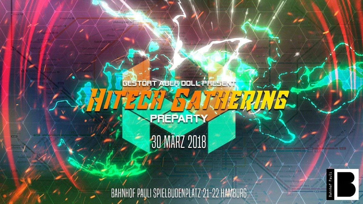 Party Flyer ॐ Hitech Gathering Pre Party • Jesus Raves ॐ 30 Mar '18, 23:00
