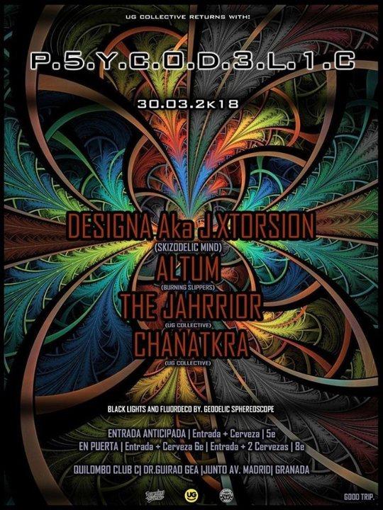 Party Flyer UG Collective presents: p5yc0d3l1c 30 Mar '18, 23:00