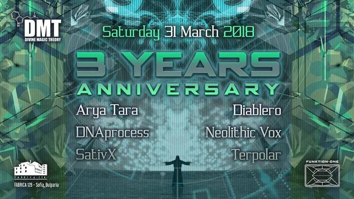 Party Flyer 3 years Divine Magic Theory ♫ 31 Mar '18, 22:00