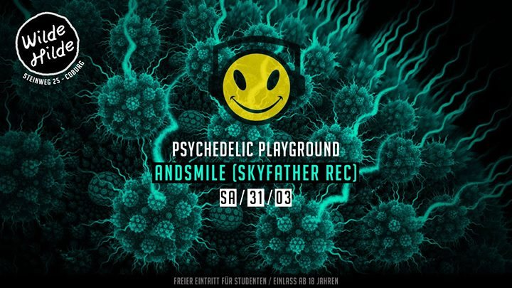 Party Flyer Psychedelic Playground: Andsmile 31 Mar '18, 23:59