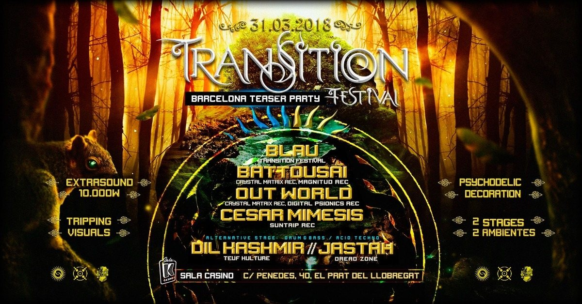 Party Flyer Transition Festival Teaser Party 31 Mar '18, 23:30
