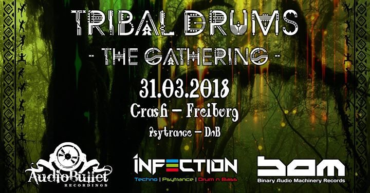 Party Flyer Tribal Drums - The Gathering 31 Mar '18, 23:00