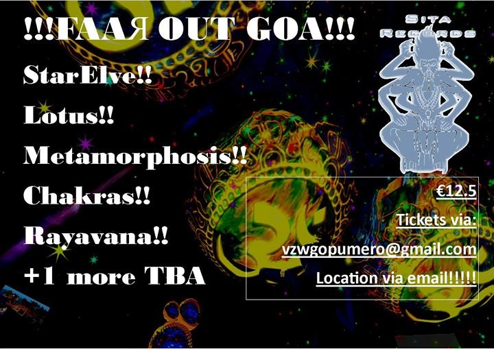 Party Flyer VZW GopumeЯo and Sita Яecords present: FAAЯ OUT GOA! 31 Mar '18, 22:00