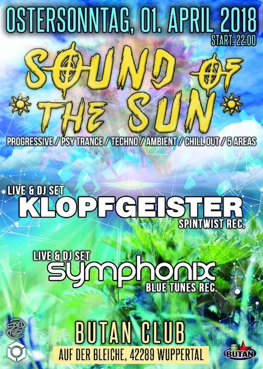 Party Flyer Sound of the Sun / Goa Indoor Festival / 5 Areas 1 Apr '18, 22:00
