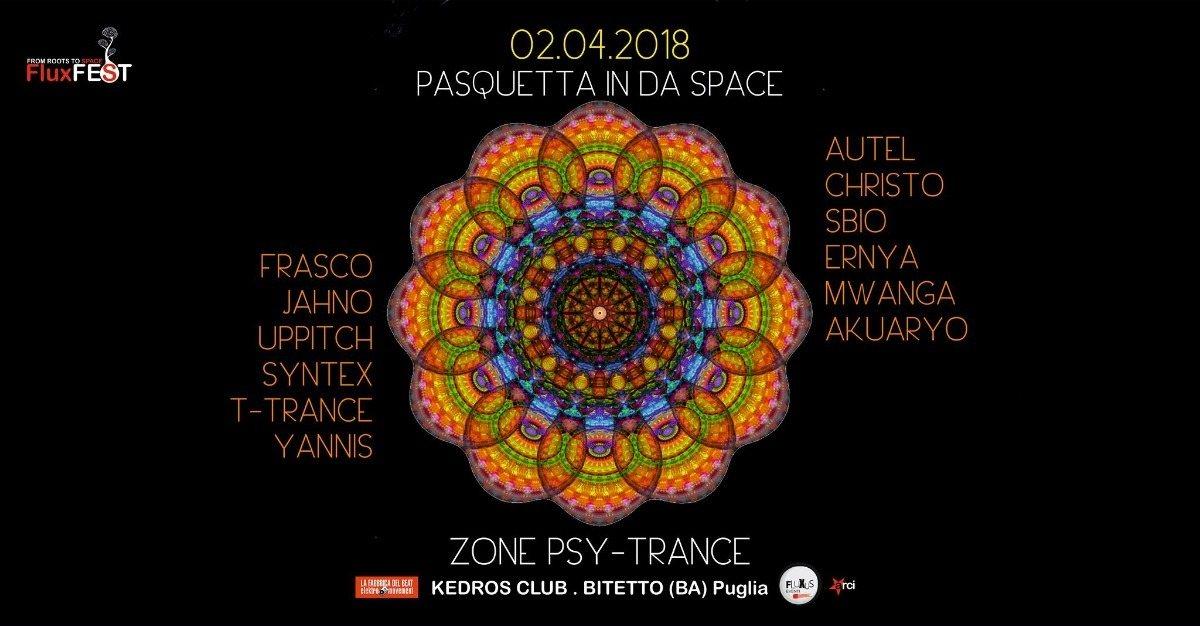 Party Flyer Pasquetta In Da Space (Psy-Trance/Progressive) 2 Apr '18, 10:00