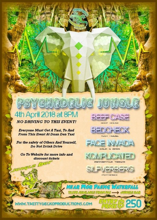 Party Flyer Psychedelic Jungle 4 Apr '18, 19:00