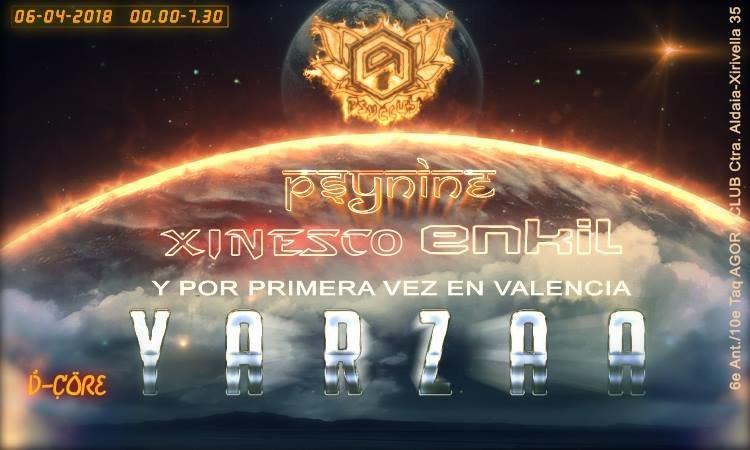 Party Flyer Yarzaa@Ágora Club (Re-presentación Psyclub) 6 Apr '18, 01:00