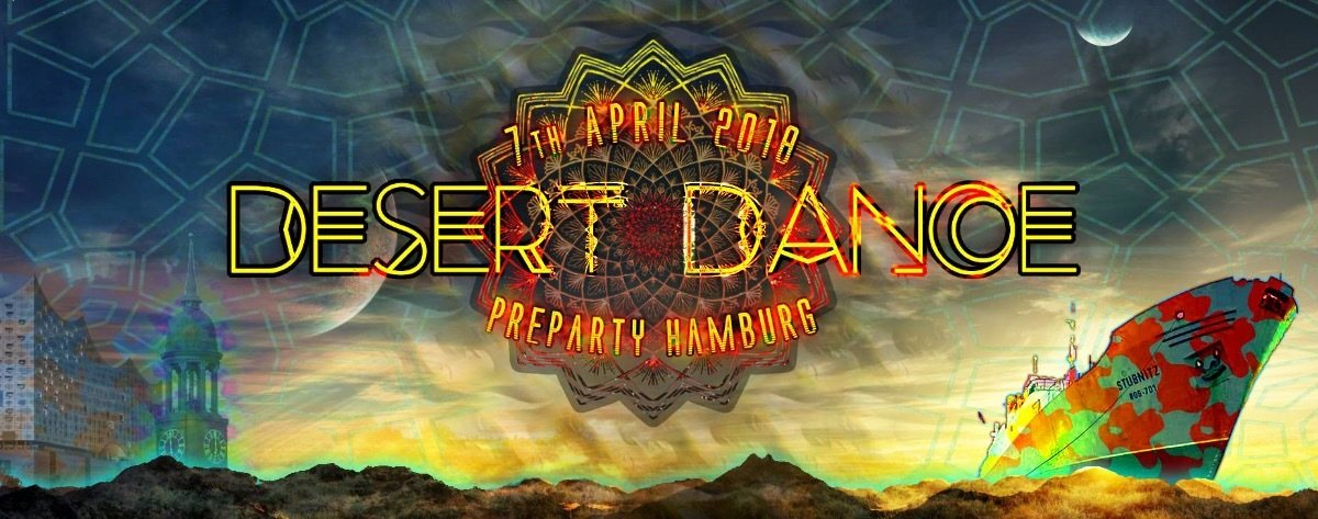 Party Flyer Desert Dance Preparty Hamburg 2018 7 Apr '18, 22:00