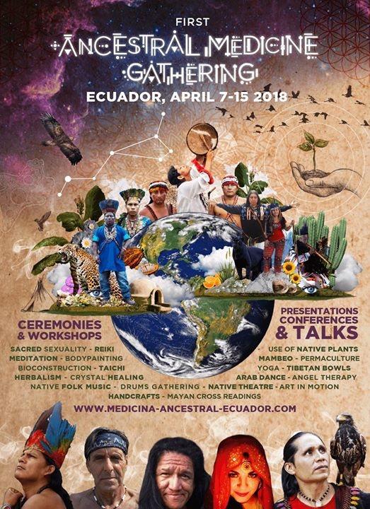 Party Flyer Primer Festival De Medicina Ancestral Ecuador 7 Apr '18, 18:00