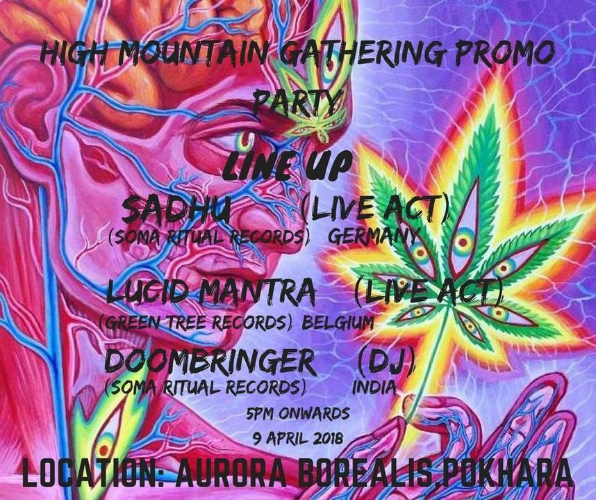 Party Flyer High Mountain Gathering Promo Party 9 Apr '18, 17:00
