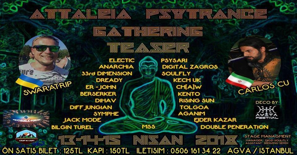 Party Flyer Attaleia Psytrance Teaser 2018 13 Apr '18, 19:00
