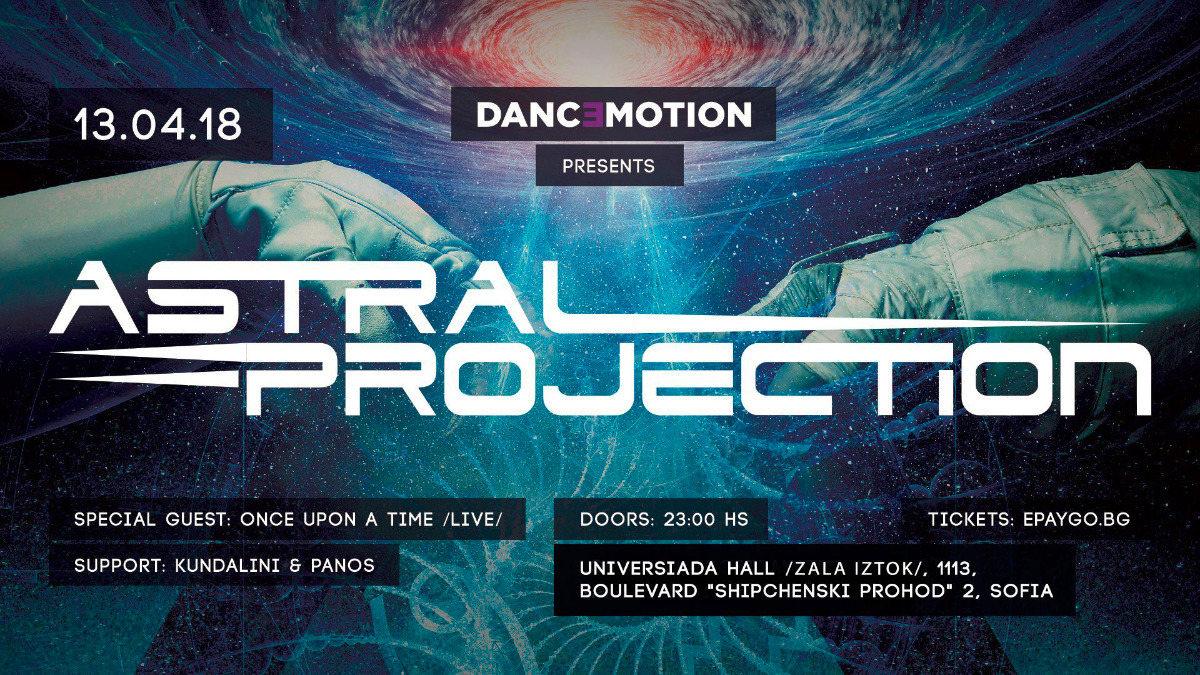 Party Flyer Danc3motion presents : Astral Projection Live 13 Apr '18, 23:00
