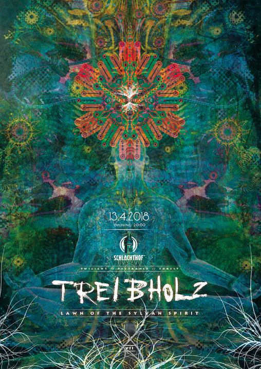 "Party Flyer Treibholz VII - ""Lawn Of The Sylvan Spirit"" - Forest Gathering 13 Apr '18, 20:00"