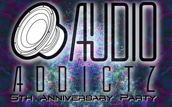 Party Flyer AudioAddictz Live - 5th Anniversary Party 14 Apr '18, 21:00