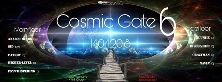 Party Flyer ॐ •:★ COSMIC GATE VOL.6 ★:•ॐ /w ANALOG MINDS (LIVE) - SID (LIVE) 14 Apr '18, 22:00