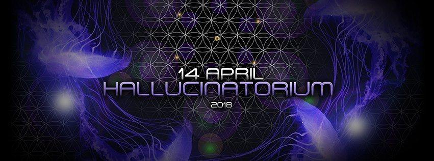 Party Flyer Hallucinatorium Evolution Seven 14 Apr '18, 22:00