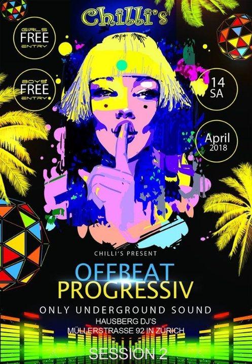 Party Flyer Progressive Sounds 2nd Session 14 Apr '18, 20:00