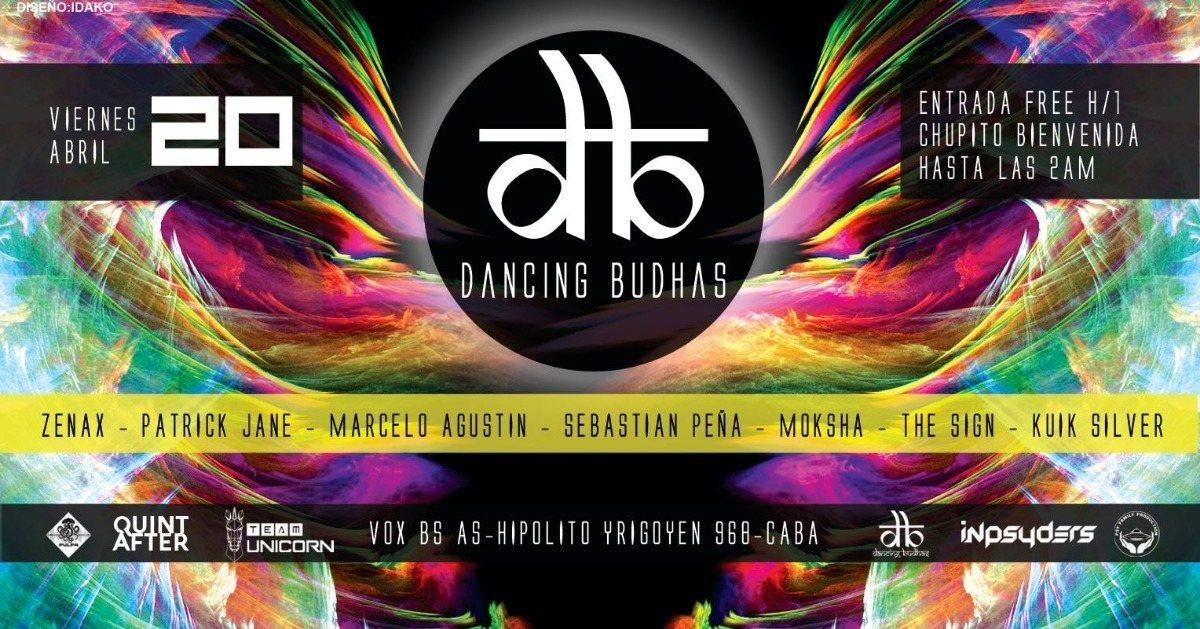 Party Flyer Dancing Budhas 20 Apr '18, 23:30
