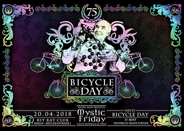 Party Flyer Mystic Friday meets Bicycle Day 20 Apr '18, 23:00