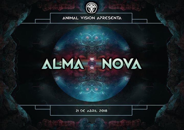 Party Flyer ❁ Alma Nova - Open Air Party ❁ Animal Vision Birth ❁ 21 Apr '18, 23:00