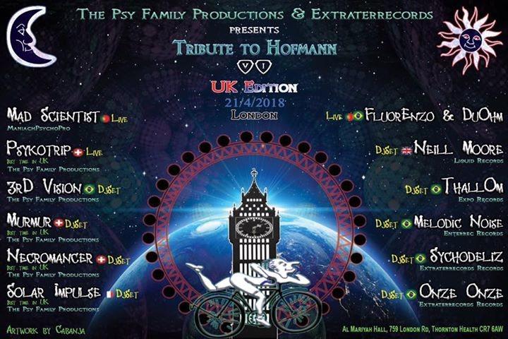 Party Flyer Tribute to Hofmann VI (UK Edition) 21 Apr '18, 18:00