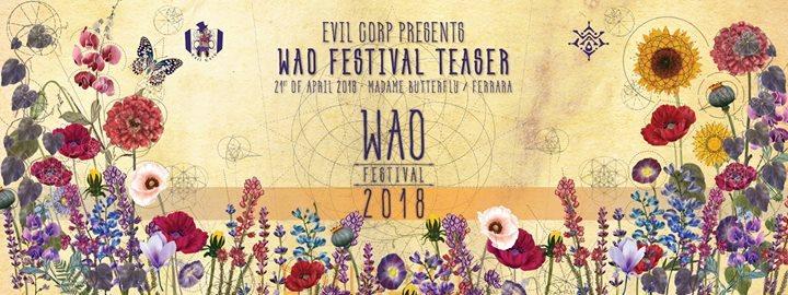 Party Flyer Wao Festival Teaser Emilia Romagna 21 Apr '18, 22:00