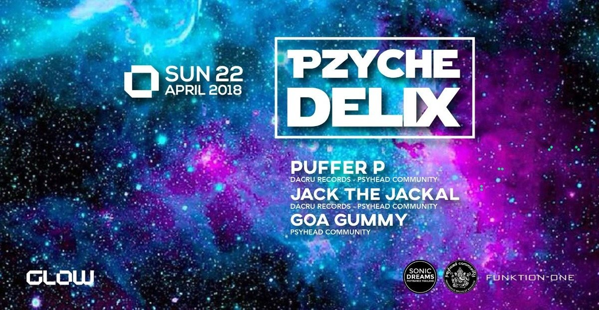 Party Flyer Pzychedelix 22 Apr '18, 21:00
