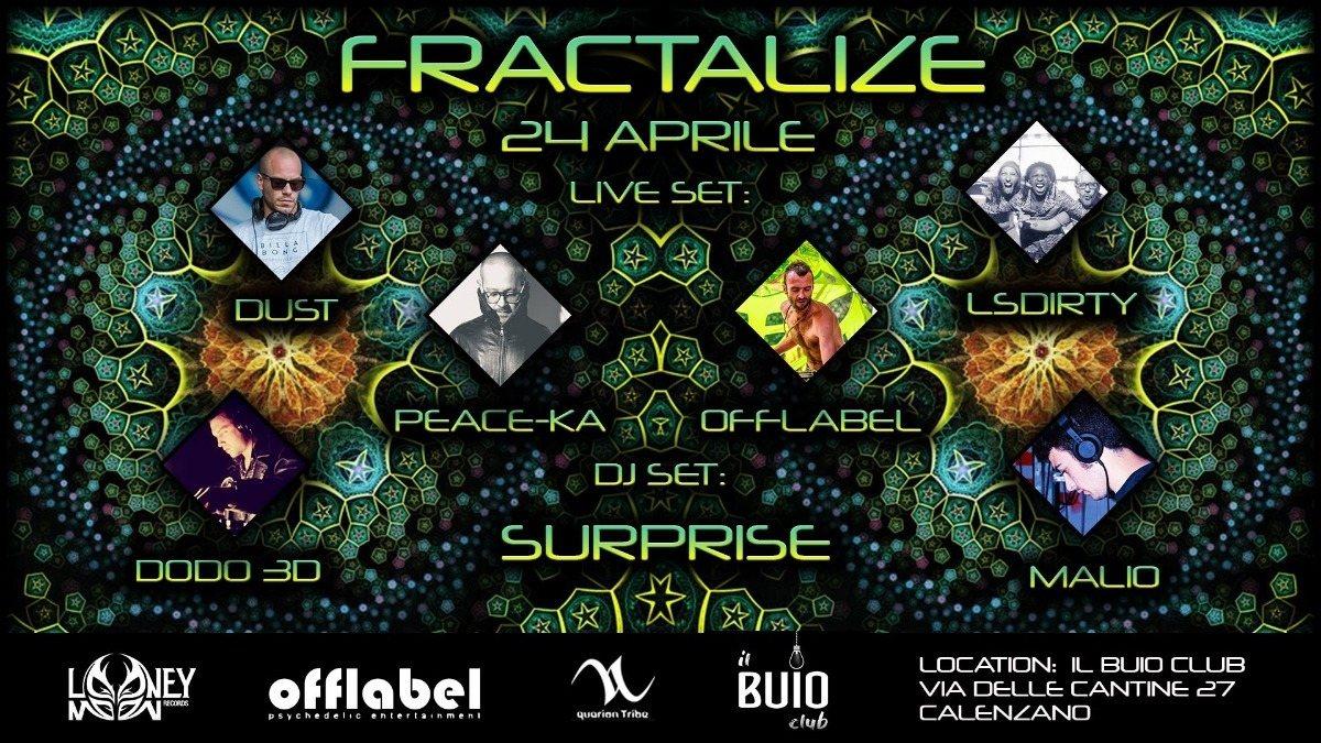 Party Flyer ▽ F R Ⓐ C T Ⓐ L I Z E ▽ 24 Apr '18, 23:00