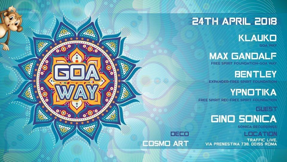 Party Flyer ॐ Goa Way!ॐ 24 Apr '18, 22:00