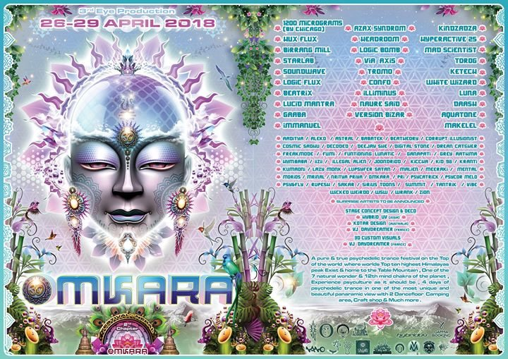 Party Flyer Omkara Festival 2018 (Full Moon Gathering) 26 Apr '18, 11:15