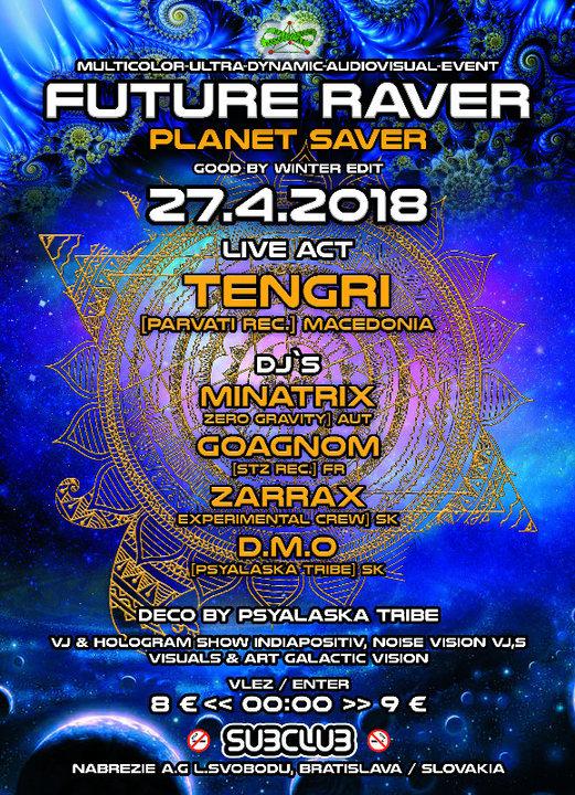 Party Flyer Future Raver (planet saver)w/Tengri 27 Apr '18, 22:00