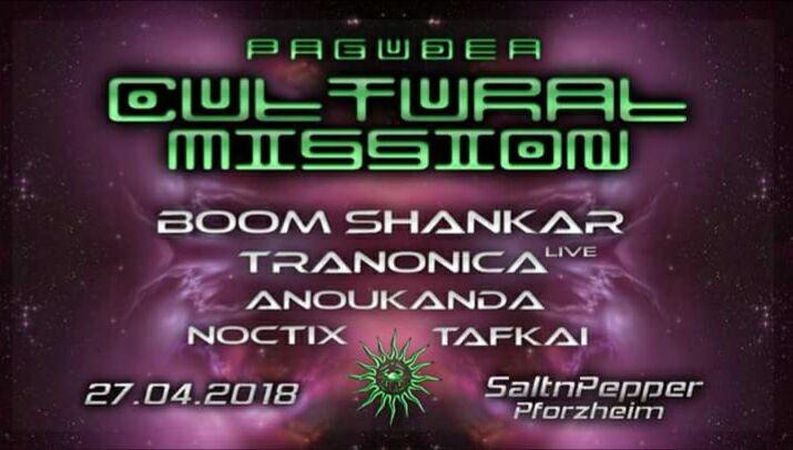 Party Flyer Oº°'¨ Cultural Mission ¨'°ºO (Goa) w/ Boom Shankar 27 Apr '18, 22:00