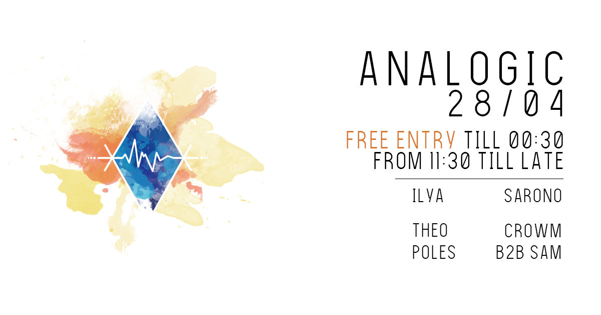 Party Flyer Free ENTRY Analogic 28/04 28 Apr '18, 22:00
