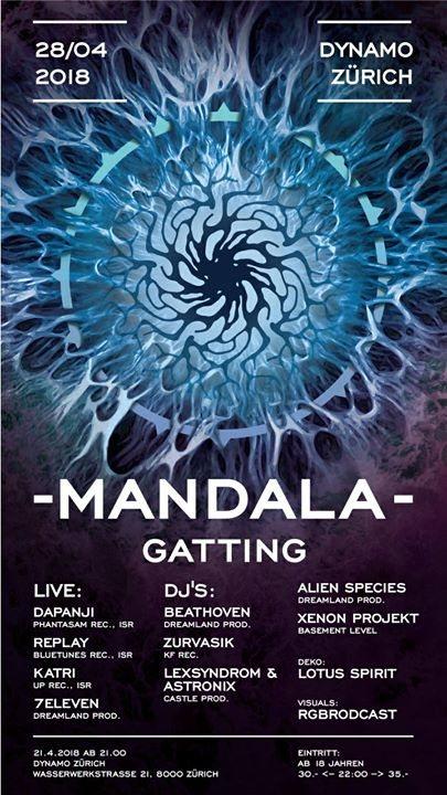 Party Flyer //~ MANDALA GATTING ~\ DAPANJI, KATRI, REPLAY 28 Apr '18, 21:00