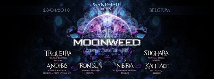 Party Flyer Mandhalu : MoonWeed Live 28 Apr '18, 20:00