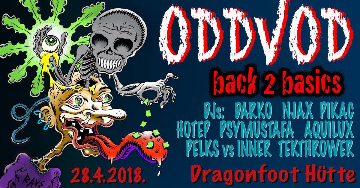 Party Flyer Oddvod - Back2Basics [Free Party] 28 Apr '18, 22:00