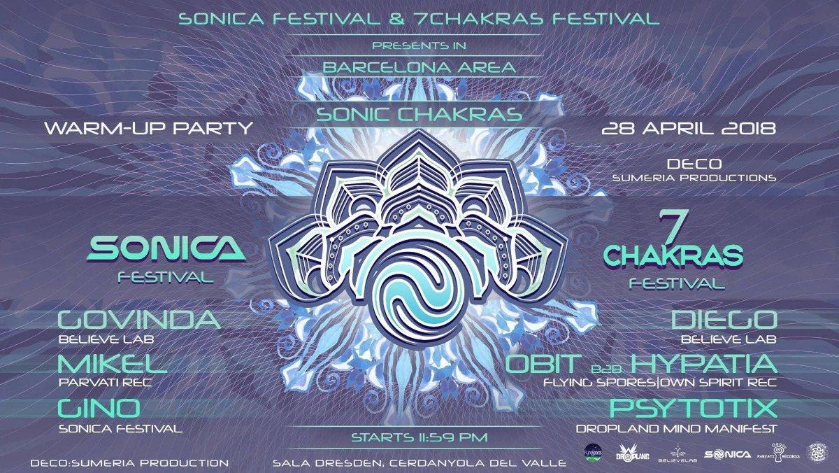 Party Flyer Sonic Chakras 28 Apr '18, 23:30
