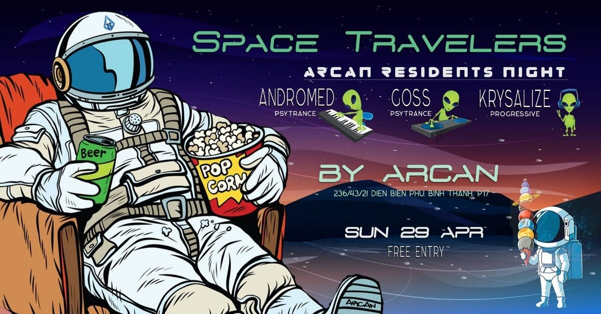 Party Flyer Space Travelers 29 Apr '18, 22:00