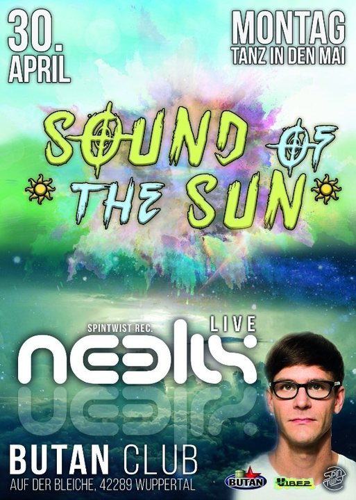 Party Flyer Sound of the Sun / Neelix/ 5 Areas / Tanz in den Mai 30 Apr '18, 22:00