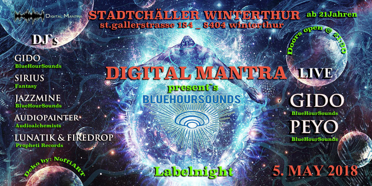 Party Flyer Blue Hour Sounds Label Night 5 May '18, 22:00
