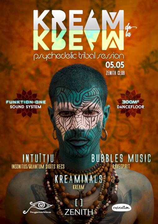 Party Flyer KREAM de la KREAM II 5 May '18, 23:30