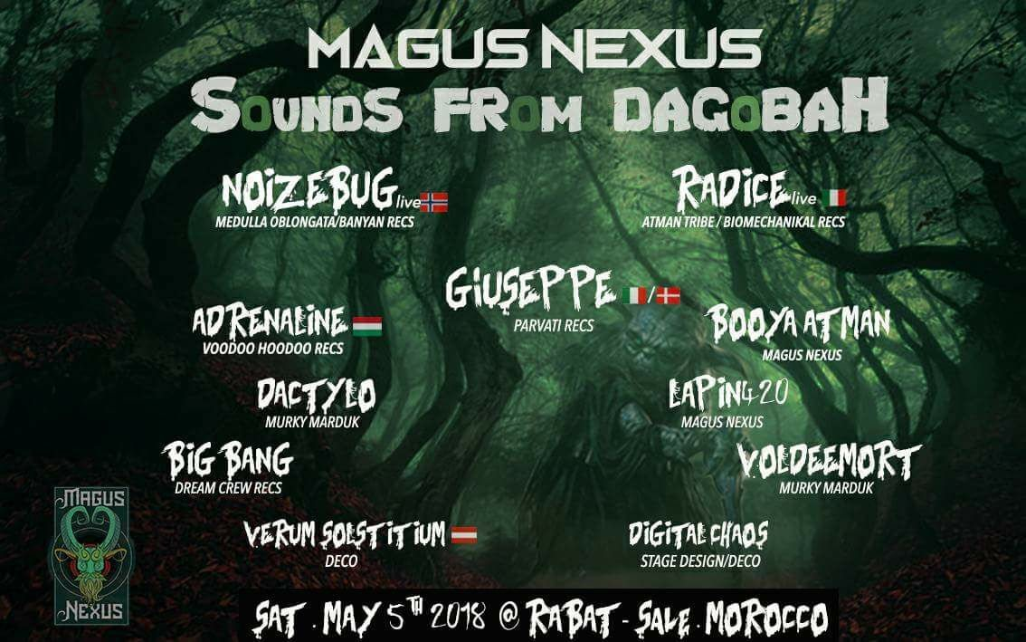 Party Flyer MAGUS NEXUS #3 - Sounds From Dagobah 5 May '18, 21:00