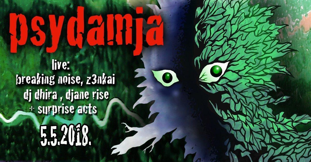 Party Flyer Psydamja w/Digital Shamans Records 5 May '18, 20:00