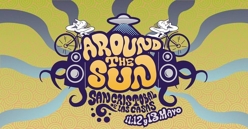 Party Flyer Around The Sun Festival 11 May '18, 17:00