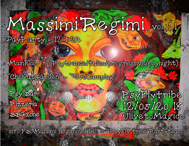 Party Flyer massimmi regimi vol 11 12 May '18, 12:00