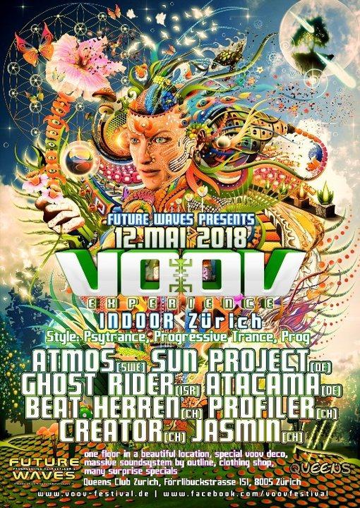 VOOV Indoor Zurich - Atmos, Sun Project, Ghost Rider uvm 12 May '18, 23:00