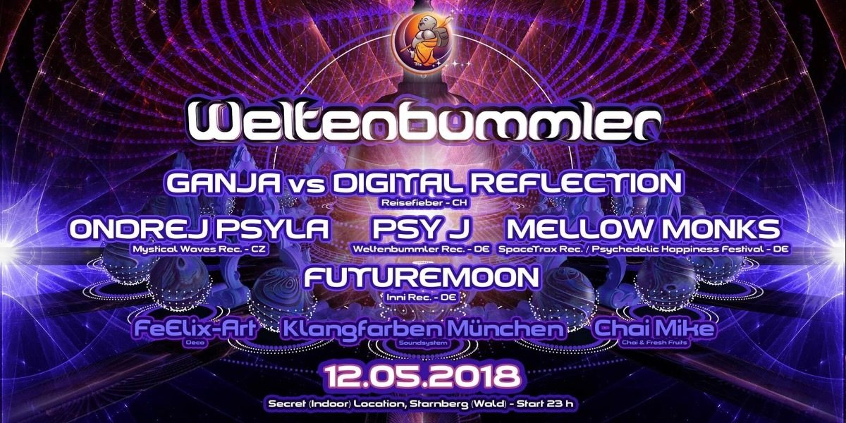 Party Flyer Weltenbummler 12 May '18, 23:00